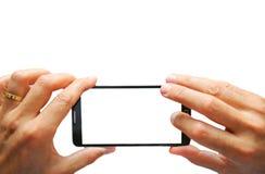 Fotografía elegante del teléfono imagenes de archivo
