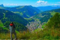 Fotografía en Selva di Val Gardena, Italia Imagen de archivo