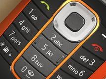 Fotografía macra de un teclado del teléfono celular Fotos de archivo
