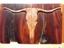 Fotografía macra del embutido del cráneo del buey imagen de archivo