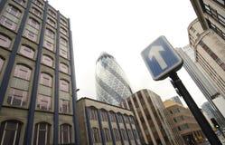 Fotografía panorámica del districto de la central de Londres Fotos de archivo libres de regalías