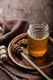 Fotografía rústica de la miel, anuncio de la comida Fotografía de archivo