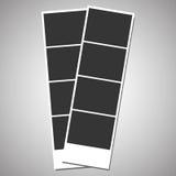 Fotografía retra en blanco de una cabina inmediata de la foto stock de ilustración