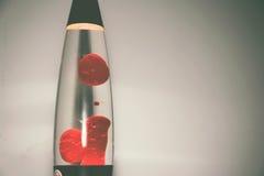 Fotografía roja de la lámpara de la lava imagenes de archivo
