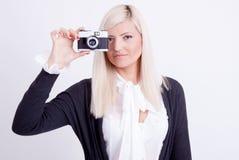 Fotografía rubia de la mujer Imagen de archivo