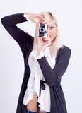 Fotografía rubia de la mujer Foto de archivo libre de regalías