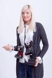 Fotografía rubia de la mujer Imagenes de archivo