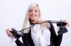 Fotografía rubia de la mujer Fotos de archivo libres de regalías