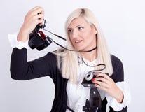Fotografía rubia de la mujer Imagen de archivo libre de regalías