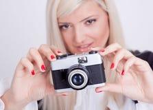 Fotografía rubia de la mujer Fotos de archivo