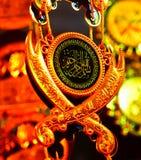 Fotografía simbólica religiosa musulmán de la acción del objeto Fotografía de archivo