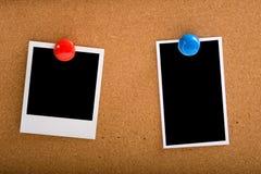 Fotografías en Corcho-tarjeta imagen de archivo