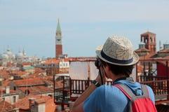 Fotografías jovenes Venecia del muchacho imagen de archivo