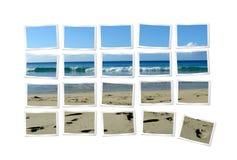 Fotografías que forman la playa Fotos de archivo