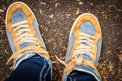 Fotografów buty Zdjęcia Stock