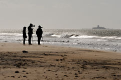 Fotograf auf dem Strand Stockfotografie