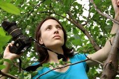 Fotograf auf Natur. Lizenzfreie Stockbilder