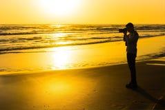 Fotograf bei der Arbeit Lizenzfreies Stockbild