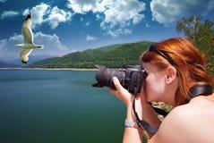 Fotograf bei der Arbeit Lizenzfreies Stockfoto