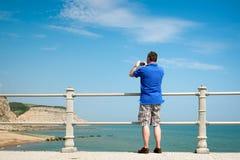 Fotograf bei Hastings Lizenzfreies Stockbild