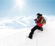 Fotograf in den extremen Bedingungen, die Abbildung erhalten Lizenzfreies Stockfoto