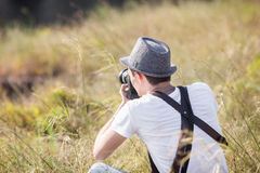 Fotograf in der Aktion Lizenzfreies Stockfoto