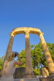 Fotograf an der alten Olympia Stockbilder