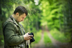 Fotograf, der Foto nimmt Stockfotos