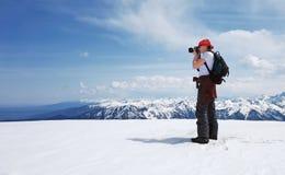 Fotograf der jungen Dame Lizenzfreies Stockbild