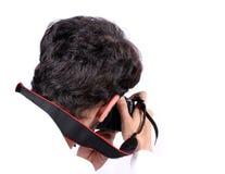 Fotograf in der Tätigkeit Stockfoto