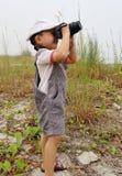Fotograf des kleinen Jungen Lizenzfreie Stockfotos