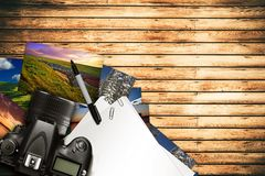 Fotograf Desk Lizenzfreies Stockbild