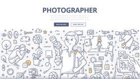 Fotograf Doodle Concept stock illustrationer
