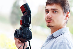 Fotograf för ung man Royaltyfri Fotografi