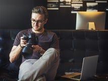 Fotograf-Fotograf Foto Photography-Konzept Stockfotografie