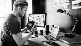 Fotograf-Fotograf Foto Photography-Konzept Stockbilder