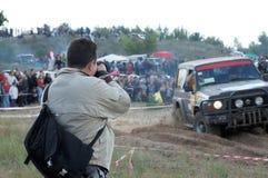 Fotograf hinter Arbeit Lizenzfreies Stockbild