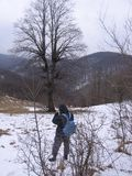 Fotograf i berget Royaltyfri Fotografi
