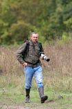 Fotograf i natur Arkivfoto