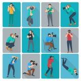 Fotograf Icons Set Arkivbild