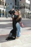 fotograf kobieta Zdjęcia Stock