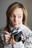 fotograf kobieta Obrazy Royalty Free