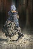 Fotograf med en son arkivfoton