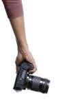 Fotograf med kameran Arkivfoton