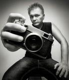 Fotograf mit Kamera Lizenzfreie Stockfotografie