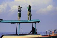 Fotograf na łodzi Obraz Stock