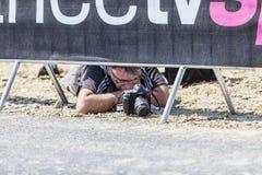 Fotograf på arbete - Tour de France Royaltyfria Foton