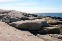 Fotograf przy oceanem Zdjęcie Royalty Free