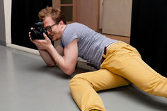 Fotograf przy pracą Zdjęcie Stock