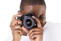 Fotograf przy pracą Zdjęcie Royalty Free